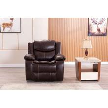 See Details - 8005 BROWN Air Leather Power Recliner w/ USB Chair