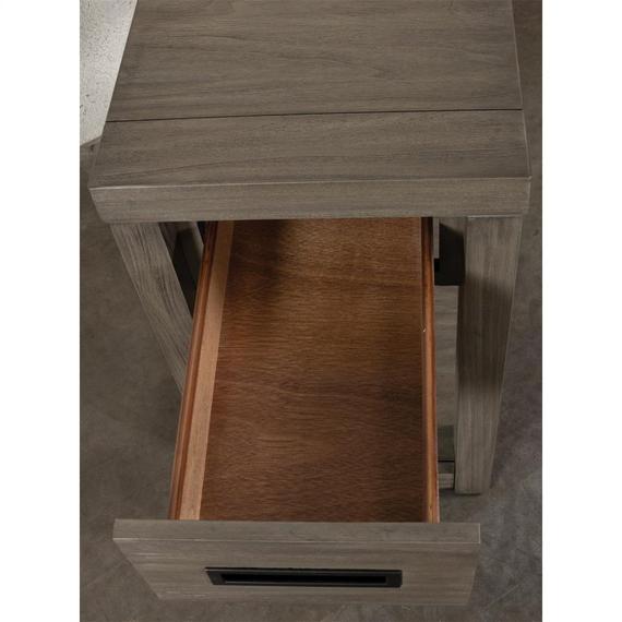Riverside - Riata Gray - Chairside Table - Gray Wash Finish