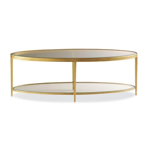 Maitland-Smith - JINX BRASS OVAL COCKTAIL TABLE