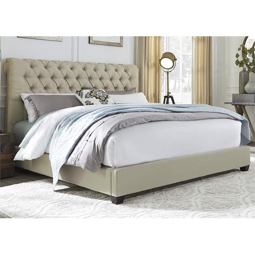 Liberty Furniture Industries - King Chesterfield Sleigh Bed