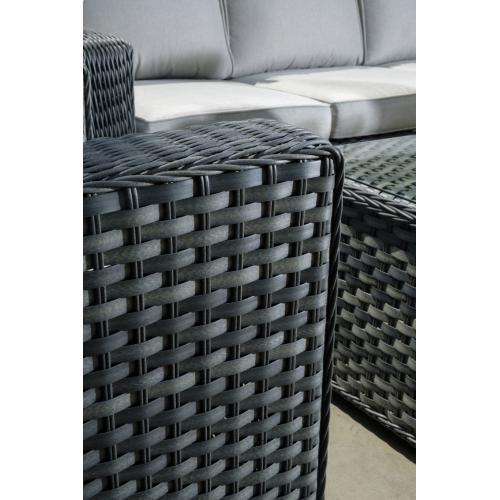 Luna Wicker Alum Sofa Seating Group w/ Sunbrella cushion