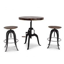 Sparrow 3 Piece Dining(Adjustable Height Table & 2 Adjustable Height Stools)