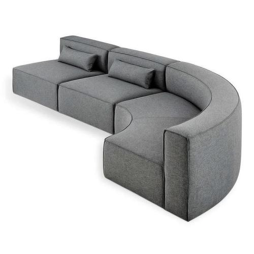 Product Image - Mix Modular 3-PC Arc Sectional Vintage Mineral