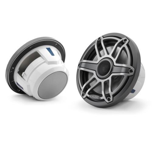 JL Audio - 7.7-inch (196 mm) Marine Coaxial Speakers, Gunmetal Trim Ring, Titanium Sport Grille