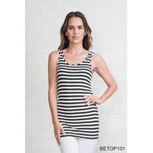 Body Esteem Stripe Neutral Tank (6 pc. ppk.)