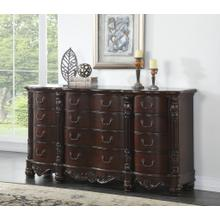 Saillans Cherry Finish Solid Wood Construction Bedroom Set, King & Queen Bed, Dresser and Mirror, Nightstand, King