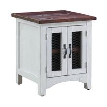 See Details - Thomas End Table White w/ Brown Top