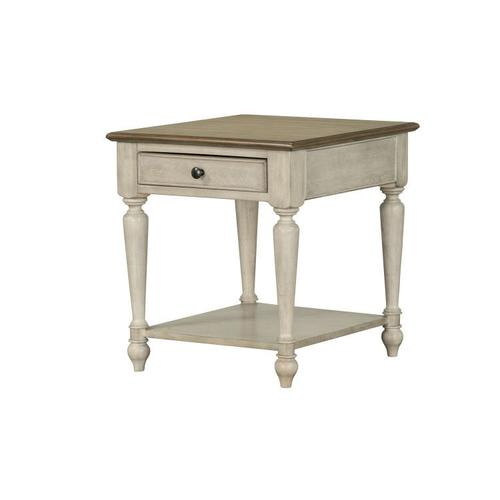 Montgomery Light End Table, Two Tone Finish