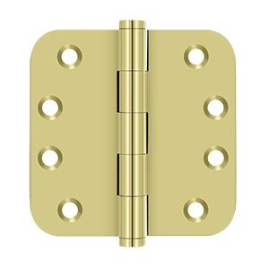 "4"" x 4"" x 5/8"" Radius Hinges Residential - Polished Brass"