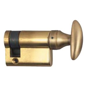 Half Cylinder - Brass Body with Polished Laq. BrassTurn Piece