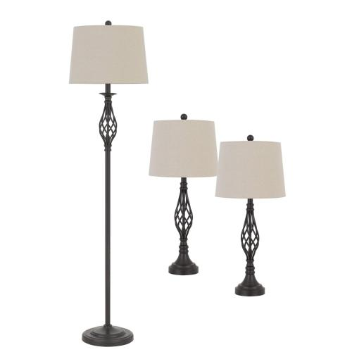100W Table And Floor Lamp. 1 Floor And 2 Table Lamps Packed in One Box