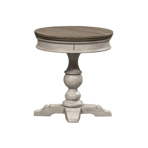 Round Pedestal Chair Side Table