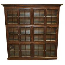 Oak 12 Door Bookcase