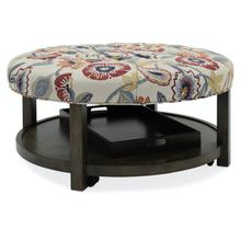 Living Room Harlow Round Tufted Ottoman