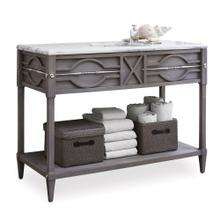 See Details - Spindle Sink Chest - Weathered Grey