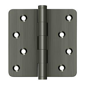 "4"" x 4"" x 1/4"" Radius Hinges / Zig-Zag - Antique Nickel"