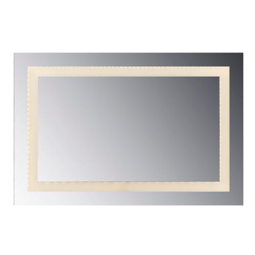 "LED Lighted Mirror inset Style Frosted Glass. 36""H X 24""W. CRI: 80"