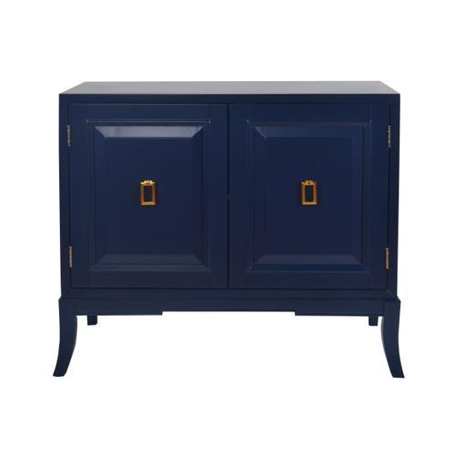 Two Door Accent Chest in Navy Blue