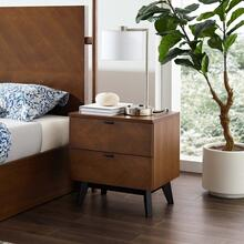 Kali Wood Nightstand in Walnut
