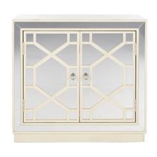 See Details - Juniper 2 Door Chest - Antique Beige/nickel/mirror