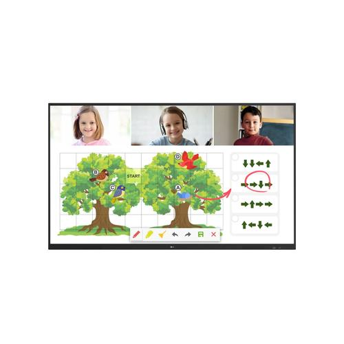 """LG - 75"""" TR3DJ-B Series IPS UHD IR Multi Touch Interactive Whiteboard with Embedded Writing Software, Built-in Speakers, & VESA™ Mount Compatibility"""