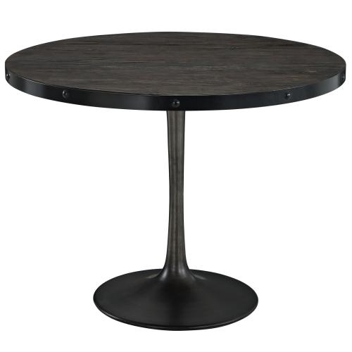 """Drive 40"""" Round Wood Top Dining Table in Black"""