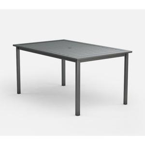 """44"""" x 70"""" Rectangular Balcony Table (with Hole) Ht: 34.5"""" Post Aluminum Base (Model # Includes Both Top & Base)"""