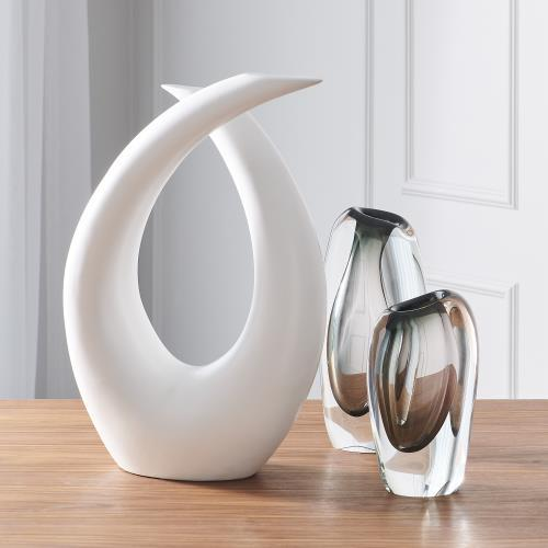 Loop Sculpture-Matte White