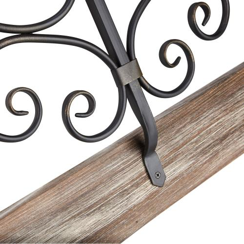 Sieger Wooden Framed Square Iron Wall Decor