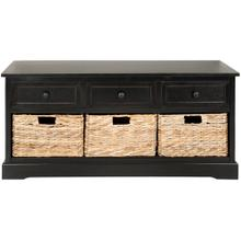 Damien 3 Drawer Storage Bench - Distressed Black