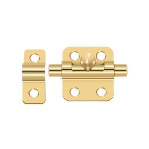 "2"" Barrel Bolt - PVD Polished Brass Product Image"