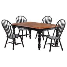See Details - Extendable Dining Set w/Comfort Back Chairs (5 Piece)