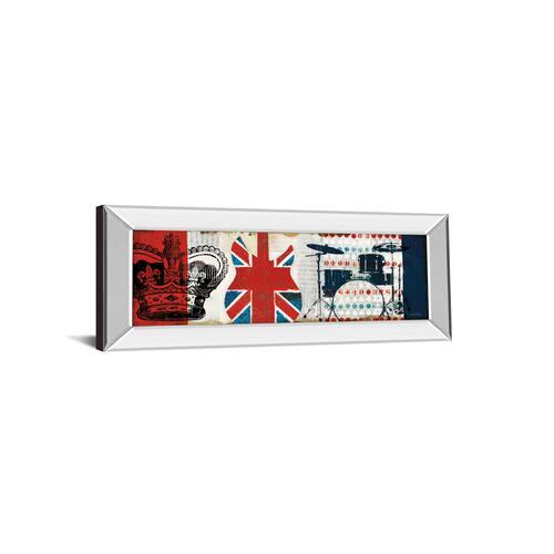 """British Invasion Il"" By Mo Mullan Mirror Framed Print Wall Art"