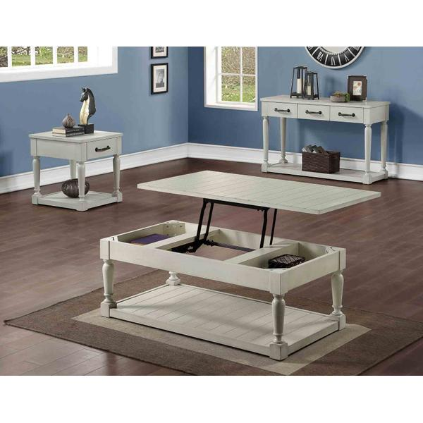 Hemingway 3-Piece Cocktail Table Set (Lift-Top Cocktail & Two End Tables)