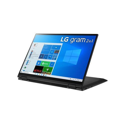 LG - LG gram 14'' 2-in-1 Ultra-Lightweight Laptop with Intel® Evo 11th Gen Intel® Core™ i7 Processor and Iris® Xe Graphics