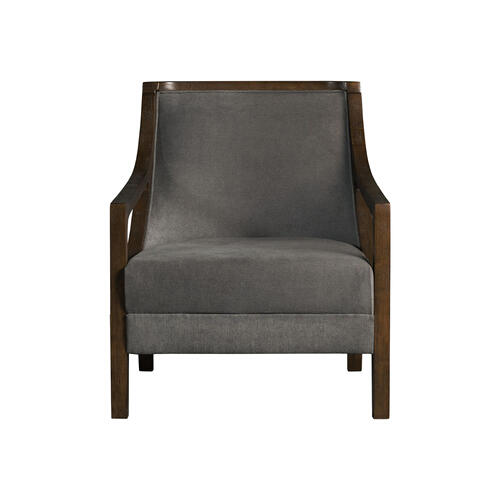 Hopkins Accent Chair with Brown Frame