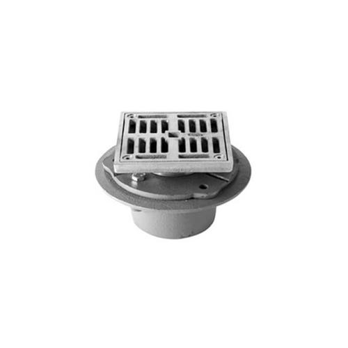 """Mountain Plumbing - 4"""" Square Complete Shower Drain - ABS - Black Nickel"""
