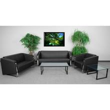 HERCULES Gallant Series Reception Set in Black LeatherSoft