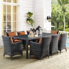 "Summon 83"" Outdoor Patio Dining Table in Gray"