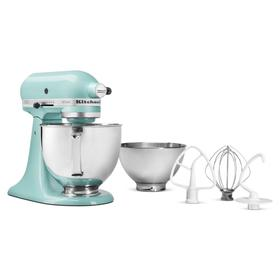 Value Bundle Artisan® Series 5 Quart Tilt-Head Stand Mixer with additional 3 Quart bowl - Aqua Sky