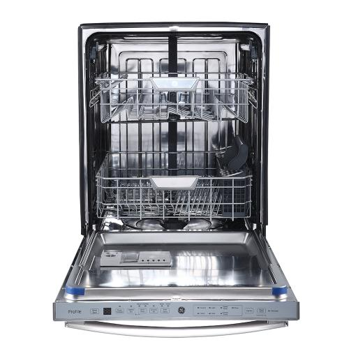 """GE Profile 24"""" Built-In Stainless Steel Tall Tub Dishwasher Stainless Steel - PBT650SSLSS"""