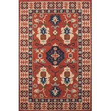 Tangier Tan-03 Red - 2.3 x 8.0 Runner