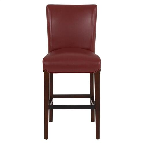 Milton Bonded Leather Counter Stool, Pomegranate
