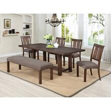 7802 6PC Wire Brushed Dining Room SET