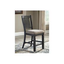 View Product - Tyler Creek Upholstered Barstool Black/Gray