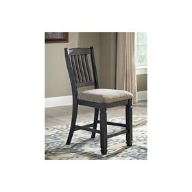 Tyler Creek Upholstered Barstool Black/Gray