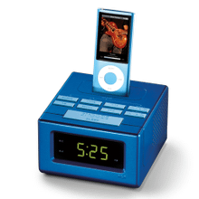 Clock radio docking station for iPhone and iPod