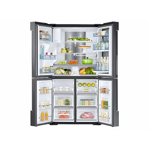 28 cu. ft. Food Showcase 4-Door Flex™ Refrigerator with FlexZone™ in Black Stainless Steel