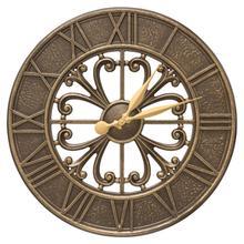 """Villanova 21"""" Indoor Outdoor Wall Clock - French Bronze"""