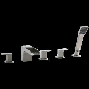 Kascade 5 Hole Deck Mount Tub Filler Brushed Nickel Product Image